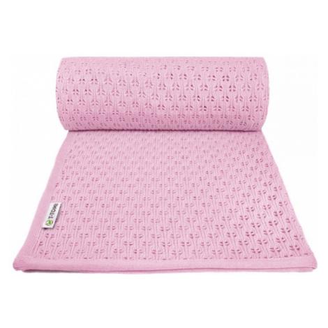 T-TOMI Pletená deka summer, ružová