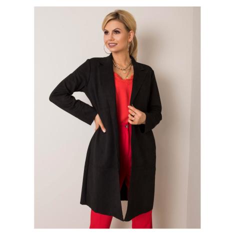 STITCH & SOUL Black coat made of eco suede