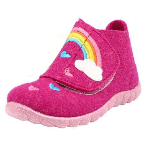 SUPERFIT Papuče 'HAPPY'  ružová / biela / svetlomodrá / ružová / žltá / oranžová