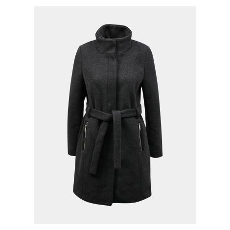 Tmavo šedý kabát s prímesou vlny ONLY Michigan