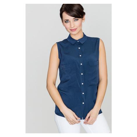 Lenitif Woman's Blouse K363 Navy Blue