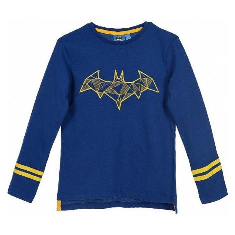 Batman tmavo modré chlapčenské tričko s dlhým rukávom