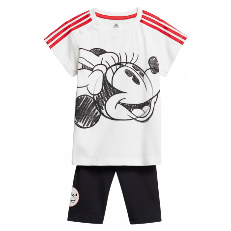ADIDAS PERFORMANCE Športový úbor  biela / čierna / červená