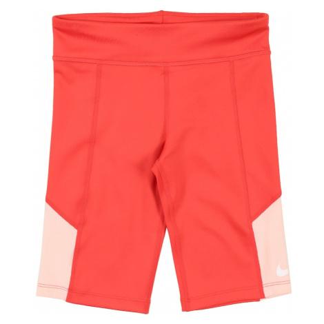 NIKE Športové nohavice 'Trophy'  koralová / biela / marhuľová