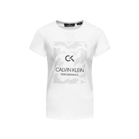 Calvin Klein Performance Tričko 00GWF9K200 Biela Regular Fit