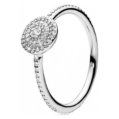 Pandora Strieborný trblietavý prsteň 190986CZ mm