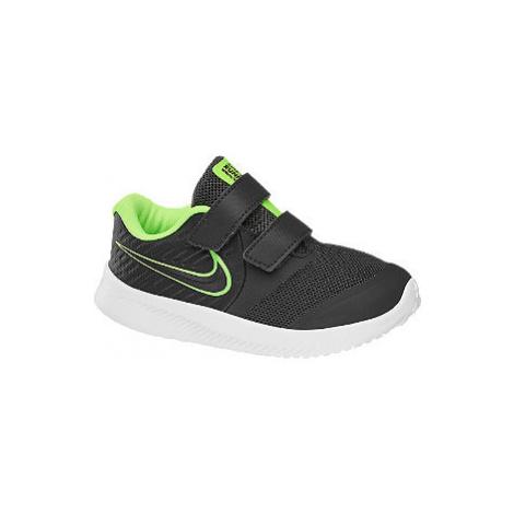 Sivé detské tenisky na suchý zips Nike Star Runner 2