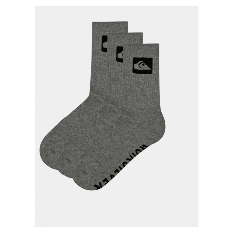 Set of three pairs of grey Quiksilver socks