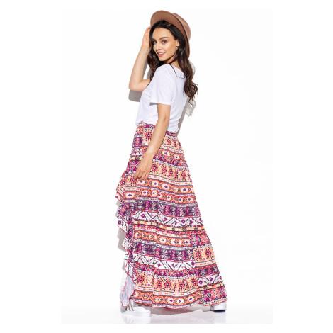 Viacfarebná vzorovaná sukňa LG544 Lemoniade