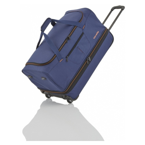 Travelite Cestovná taška na kolieskach Basics Wheeled duffle L Navy/orange 98/119 l