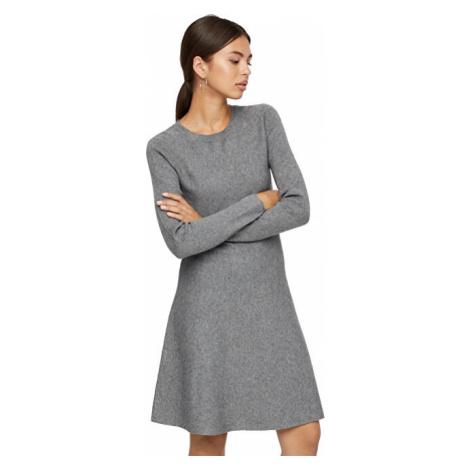 Vero Moda Dámske šaty VMNANCY Medium Grey Melange
