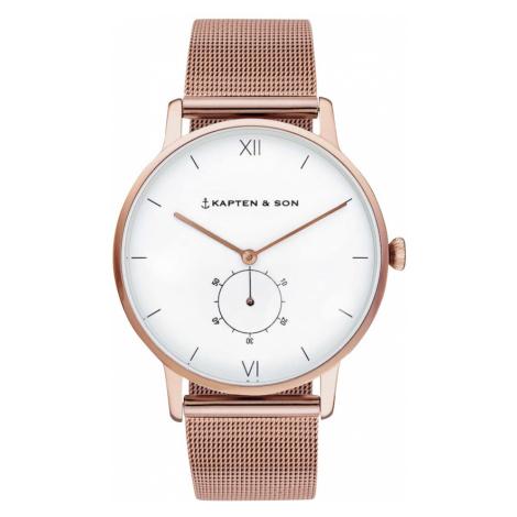 Kapten & Son Analógové hodinky 'Heritage'  ružové zlato