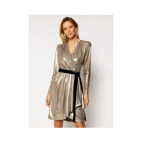 Luisa Spagnoli Koktejlové šaty Gabicce 537489 Zlatá Regular Fit