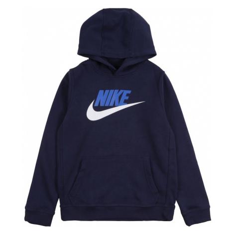 Nike Sportswear Mikina 'CLUB + HBR PO'  námornícka modrá