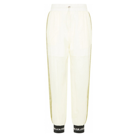 myMo ATHLSR Športové nohavice  biela / čierna