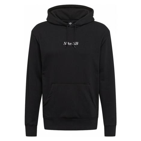 Nike SB Mikina  čierna / biela