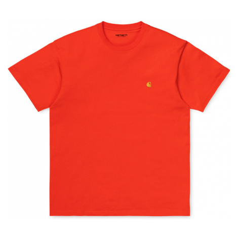 Carhartt WIP S/S Chase T-Shirt Safety Orange / Gold-XL oranžové I026391_0G0_90-XL