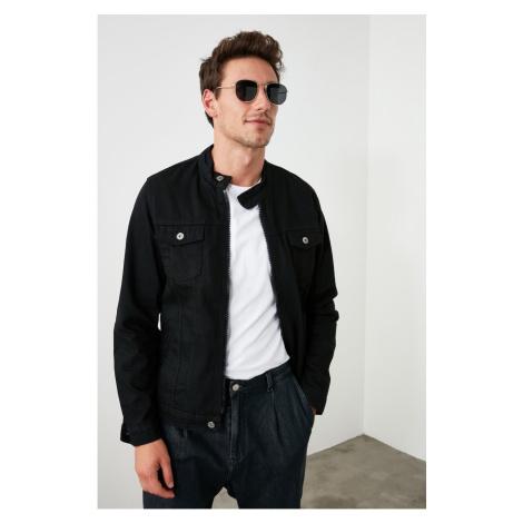 Trendyol Black Male Judge Collar Zippered Slim Fit Jacket