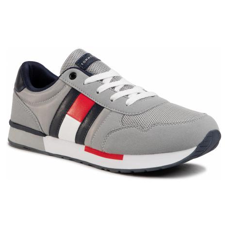 Sneakersy TOMMY HILFIGER - Low Cut Lace-Up Sneaker T3B4-30724-0902 D Grey 900