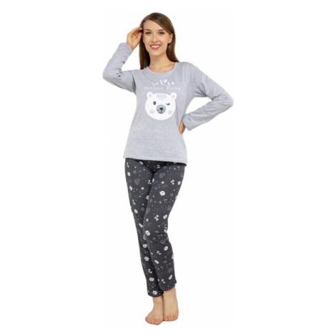 Veselé pyžamo Hello bear sivé Kuba