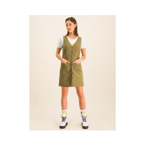 Tommy Jeans Džínsové šaty Dungaree DW0DW07750 Zelená Regular Fit Tommy Hilfiger