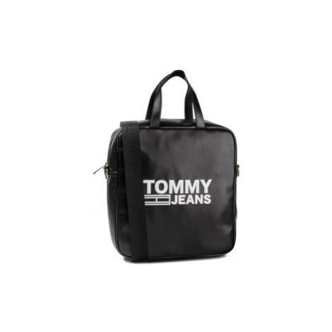 Tommy Jeans Kabelka Tjw Texture Pu Tote AW0AW07640 Čierna Tommy Hilfiger