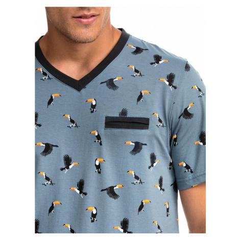 Pánska nočná košeľa s potlačou Tukan Vamp 14733