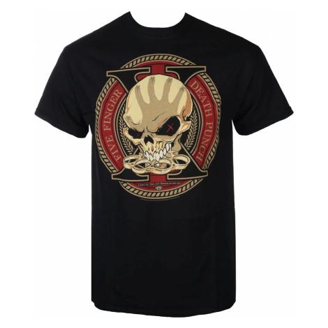 Tričko metal ROCK OFF Five Finger Death Punch Decade Of Destruction Čierna