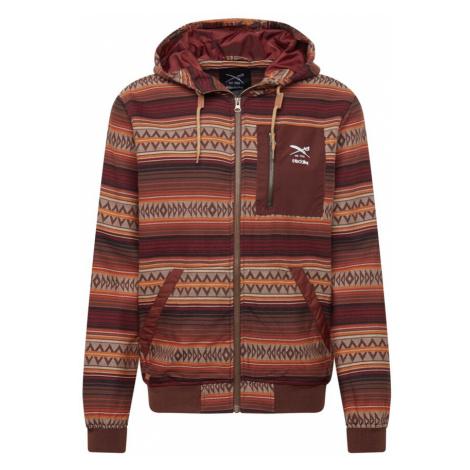 Iriedaily Prechodná bunda 'Vintachi'  hrdzavo červená / oranžová / biela / béžová
