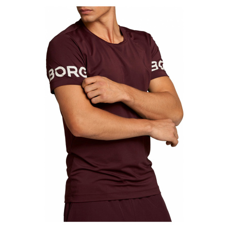 Bordové pánske tričko s krátkym rukávom Borg Tee Bjorn Borg