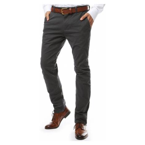 Pánske elegantné sivé chino nohavice ux2142