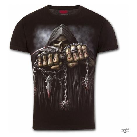 tričko SPIRAL GAME OVER Čierna