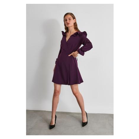 Trendyol Elderberry Shoulder Detailed Dress