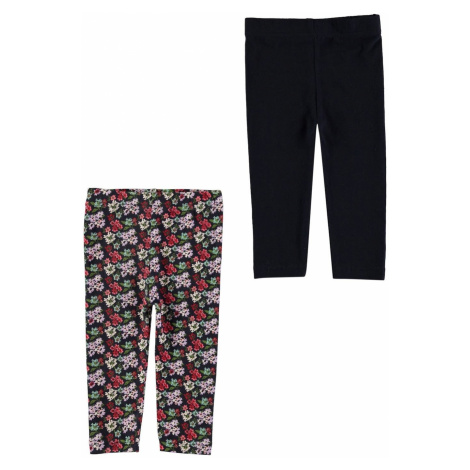 Crafted Essentials 2 Pack Print Leggings Baby Girls