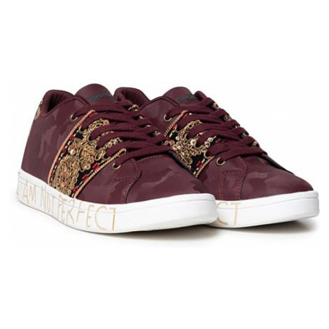 Desigual vínové/bordové tenisky Shoes Cosmic India