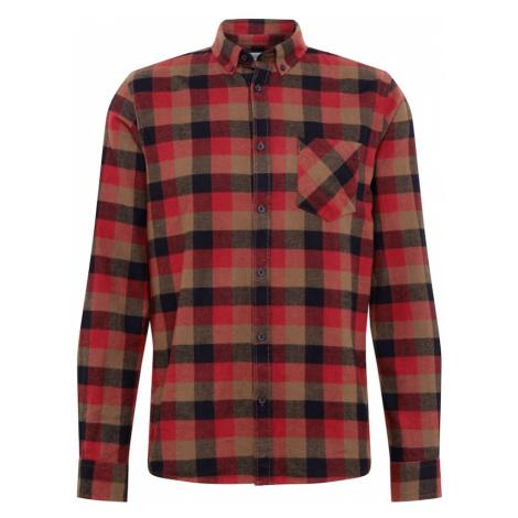 !Solid Košeľa 'Arvid'  červená / merlotová / pastelovo červená / čierna melírovaná / kaki