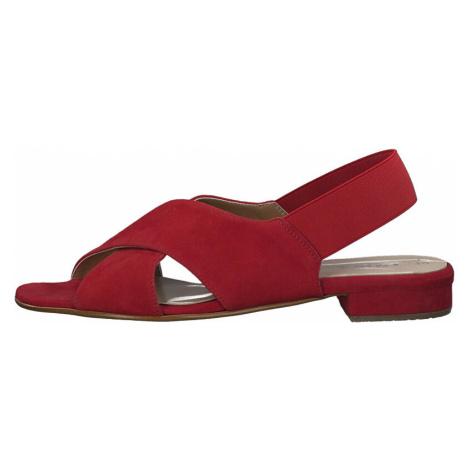 Tamaris Dámske kožené sandále 1-1-28017-34-515 Lipstick