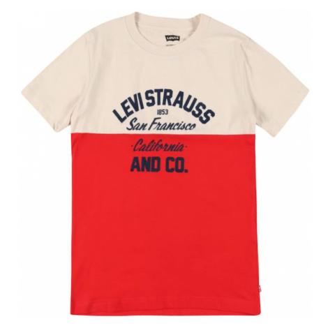LEVI'S Tričko  krémová / červená / námornícka modrá Levi´s