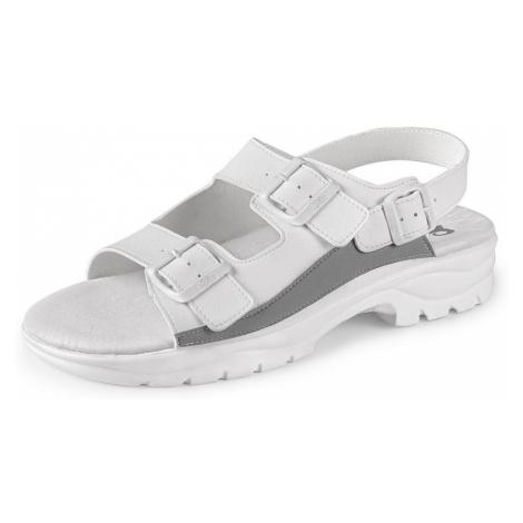 Canis Biele sandále na klínku CXS PAOLA