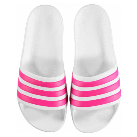 Adidas Duramo Sliders Junior Girls White/Pink