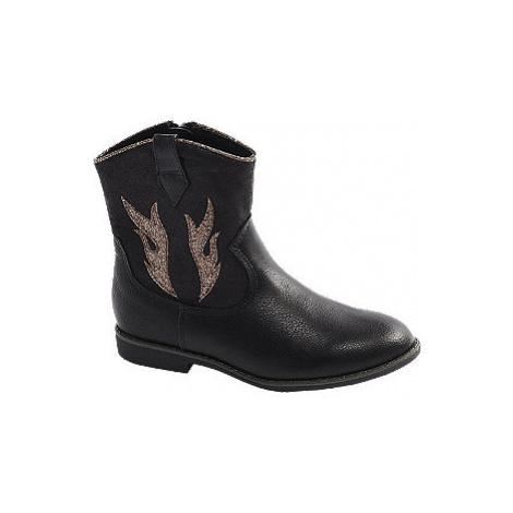 Čierna dievčenská členková obuv na zips Cupcake Couture