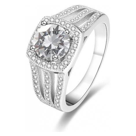 Beneto Luxusný strieborný prsteň s kryštálmi AGG183 mm