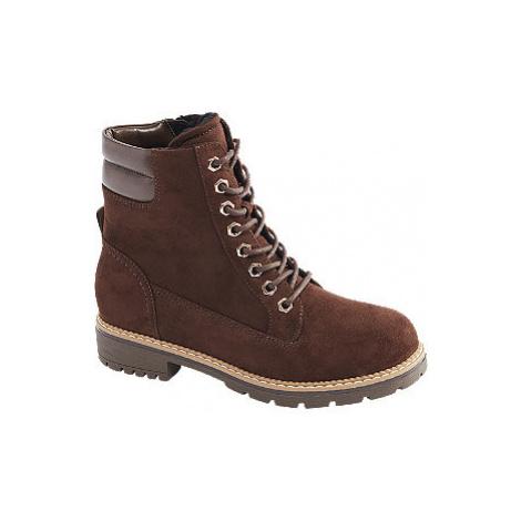 Hnedá šnurovacia obuv so zipsom Landrover