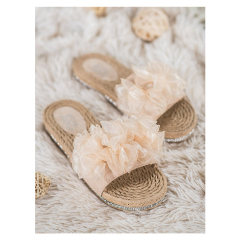 SMALL SWAN LACES WITH DECORATION shades of brown and beige