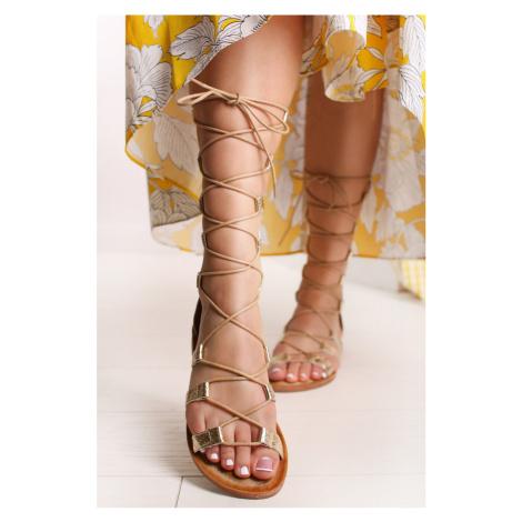 Zlaté sandále Cleora Bestelle