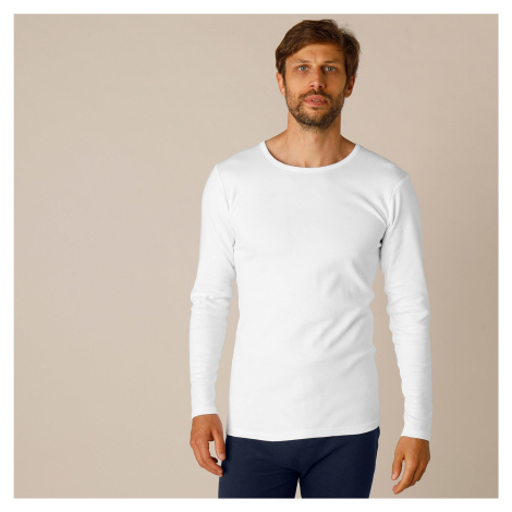 Blancheporte Súprava 2 spodných tričiek s dlhými rukávmi biela