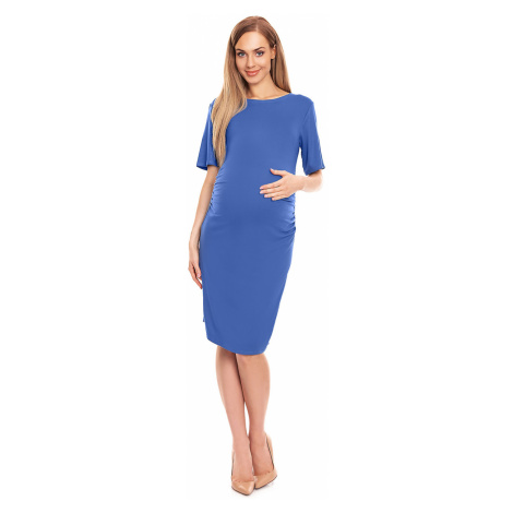 Modré tehotenské šaty 0147 PeeKaBoo