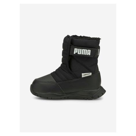Čierne chlapčenské snehule Puma Nieve Boot WTR AC Inf