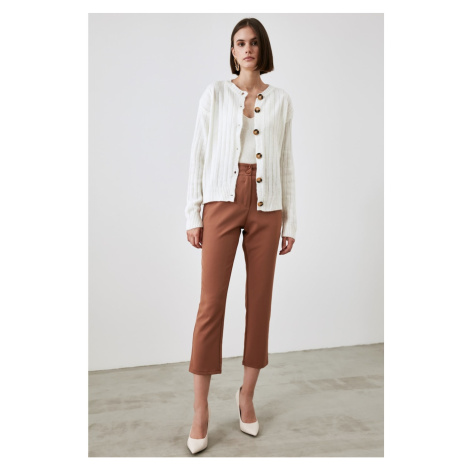 Trendyol Camel Button Detailed Pants
