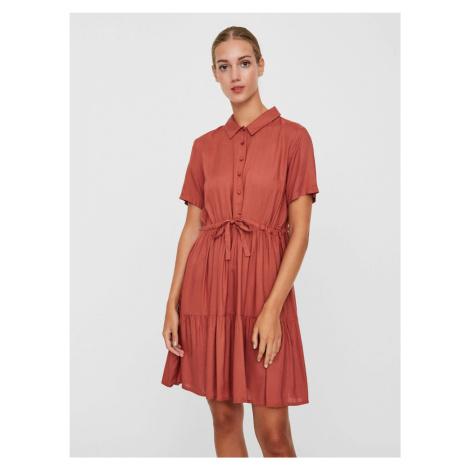 Staroružové košeľové šaty VERO MODA Dolca